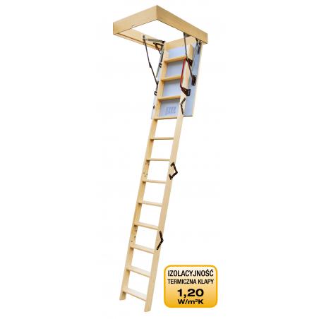 """Drewniane schody strychowe """"ENERGY"""" 90x60 cm"""