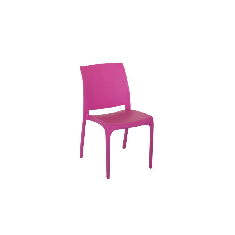 Nowoczesne krzesło Volga - Włoski Design - Kolor Różowy