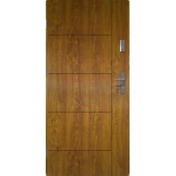 Drzwi zewnętrzne klasy RC2 LINEA - Złoty Dąb. Produkt POLSKI.