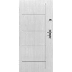 Drzwi zewnętrzne klasy RC2 LINEA - Białe. Produkt POLSKI.