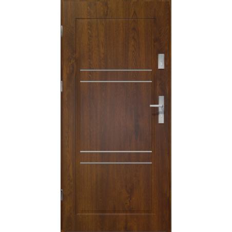 Drzwi zewnętrzne klasy RC2 - APOLLO V2 - Ciemny Orzech. Produkt POLSKI.