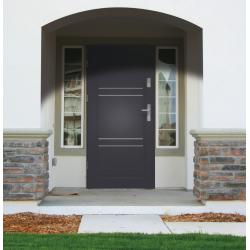 Drzwi zewnętrzne klasy RC2 - 38dB - APOLLO V2 - Ciemny Orzech. Produkt POLSKI.