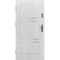 Drzwi zewnętrzne klasy RC2 - APOLLO V2 - Białe. Produkt POLSKI.