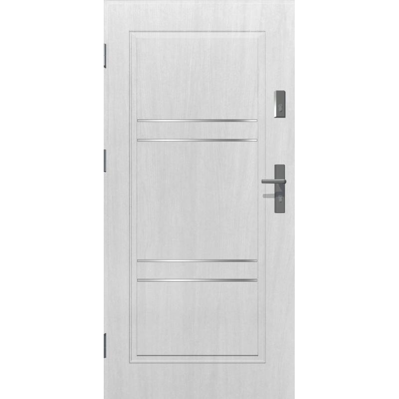 Drzwi zewnętrzne RC2 APOLLO V2 - Białe. Produkt POLSKI.