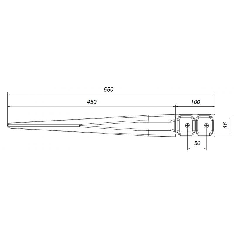 EKO - Kotwa stabilizacyjna 46x46 mm do słupów drewnianych, pergoli, płotów, konstrukcji.