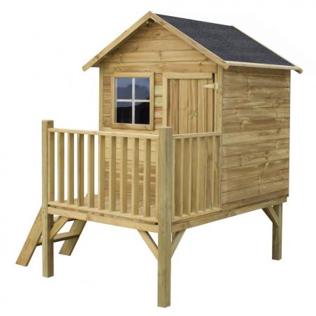 Drewniany domek ogrodowy dla dzieci - Tomek bez ślizgu