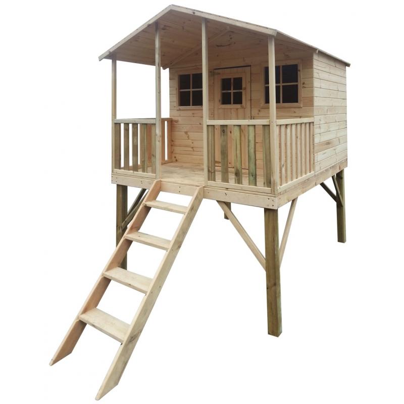 Drewniany domek ogrodowy dla dzieci - Gucio bez slizgu