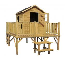 Drewniany domek ogrodowy dla dzieci - Maciej - bez slizgu