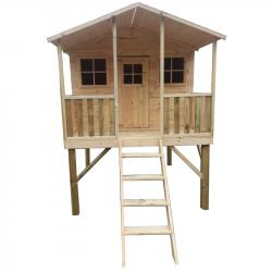 Drewniany domek ogrodowy dla dzieci - Gucio bez ślizgu