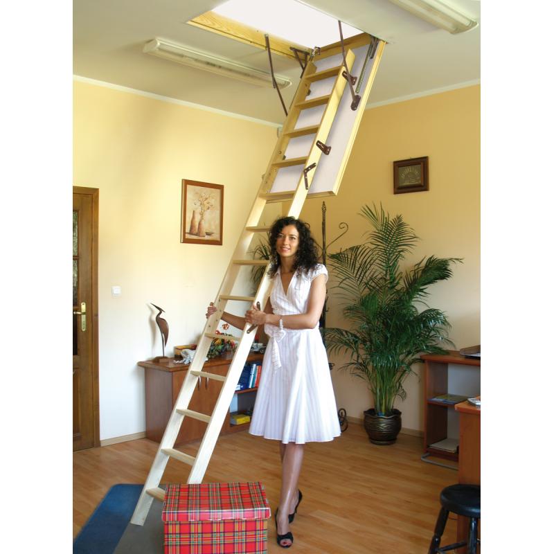 Drewniane schody strychowe TERMO 120x80 cm