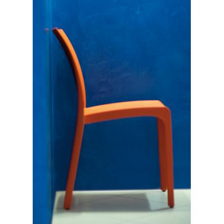 Nowoczesne krzesło VOLGA  - Włoski Design - Kolor Pomarańcz