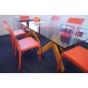 Nowoczesne krzesło VOLGA - Włoski Design - Kolor Pomarańczowy