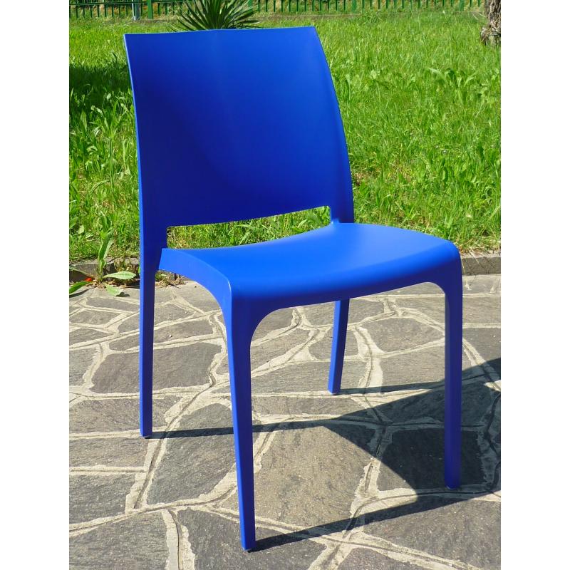 Nowoczesne krzesło VOLGA - Włoski Design - Kolor Niebieski