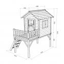 Drewniany domek ogrodowy dla dzieci - Tosia