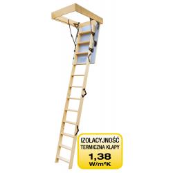 """Drewniane schody strychowe """"TERMO"""" 90x60 cm"""