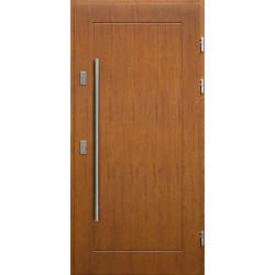 Drewniane drzwi zewnętrzne Andabatus - sosnowe z antabą 1200 - TEAK