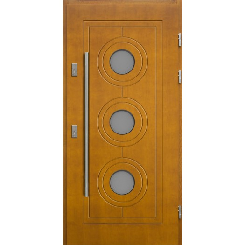 Drewniane drzwi zewnętrzne Lucjusz - sosnowe z antabą 1200 - Złoty Dąb