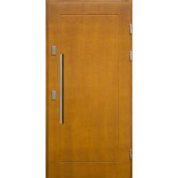 Drewniane drzwi zewnętrzne Andabatus - sosnowe z antabą 800 - ZŁOTY DĄB