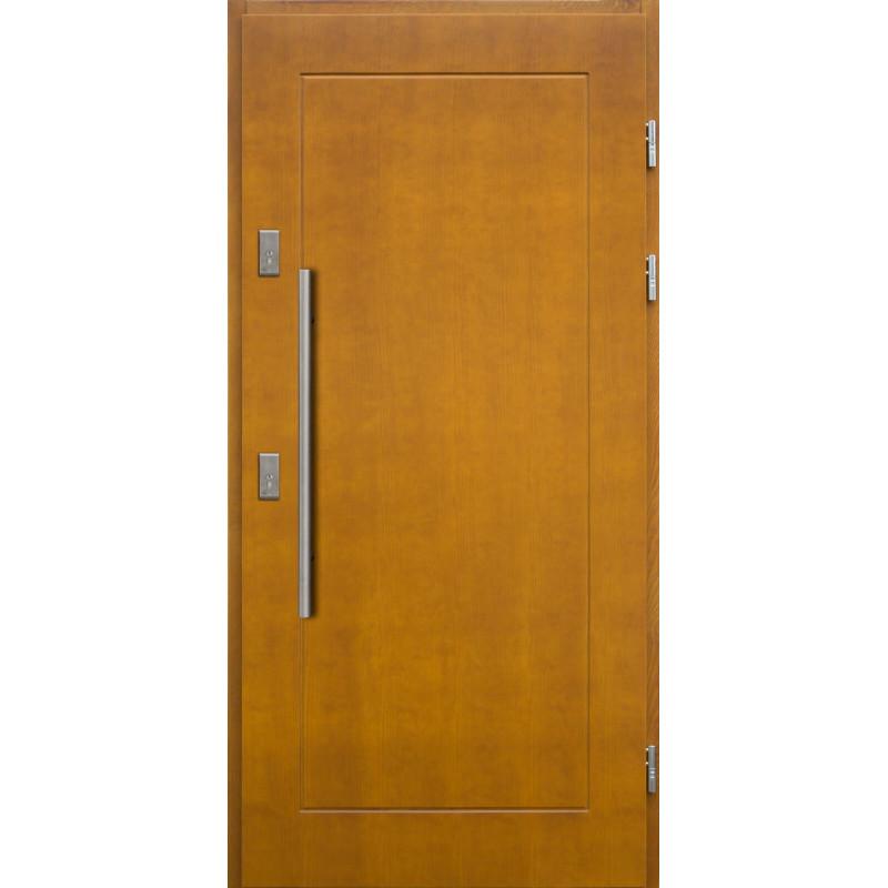 Drewniane drzwi zewnętrzne Andabatus z antabą 800mm - sosnowe - Kolor: ZŁOTY DĄB