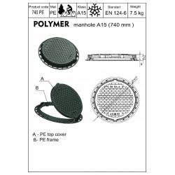 Pokrywa do szamba - czarny polimer