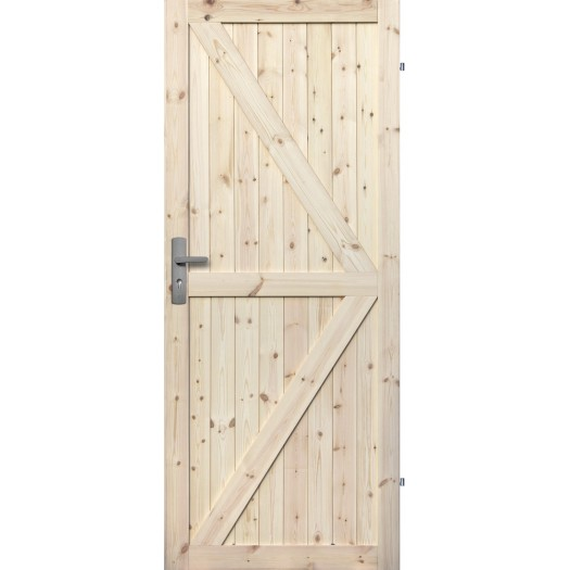"""Drzwi sosnowe, seczne, nieszklone - """"Loft II"""" - Seria Classic - Drzwi wewnetrzne drewniane """"RADEX"""""""