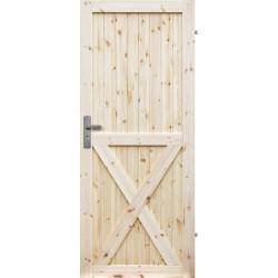 """Drzwi sosnowe, sęczne - """"Loft X"""" - Seria LOFT - Drzwi wewnętrzne drewniane """"RADEX"""""""