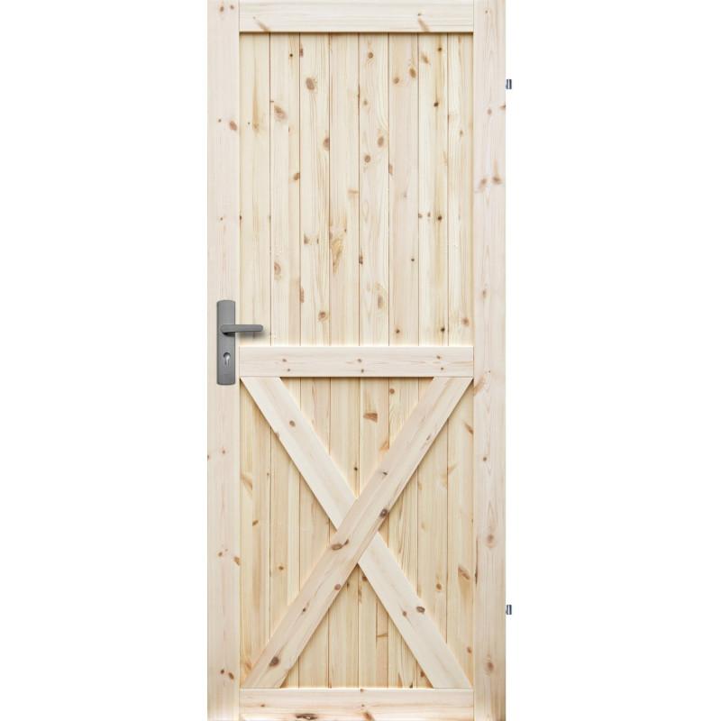 """Drzwi sosnowe, sęczne, nieszklone - """"Loft X"""" - Seria Classic - Drzwi wewnętrzne drewniane """"RADEX"""""""