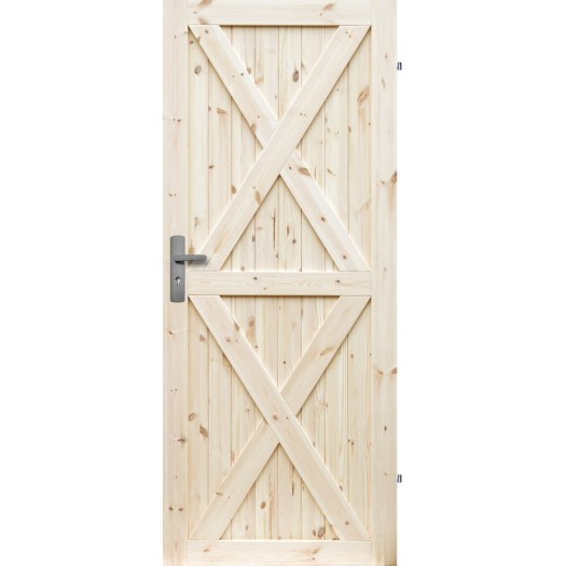 """Drzwi sosnowe, seczne, nieszklone - """"Loft XX"""" - Seria Classic - Drzwi wewnetrzne drewniane """"RADEX"""""""