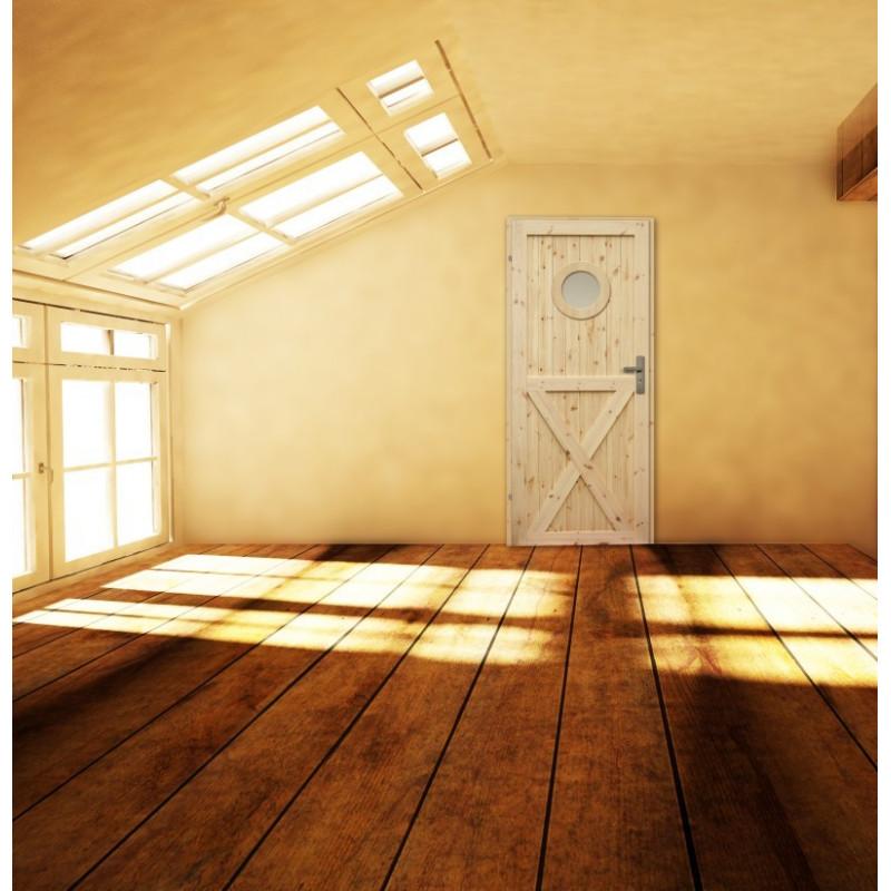 Drzwi sosnowe, sęczne -
