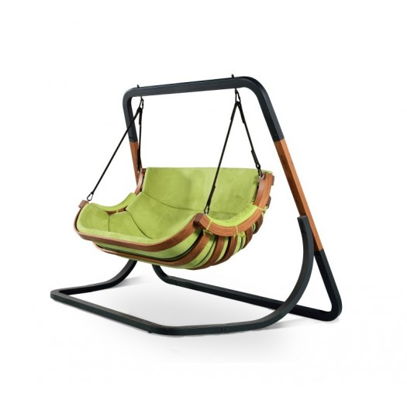 Podwojny Fotel Alpha Zielony - bujak ogrodowy