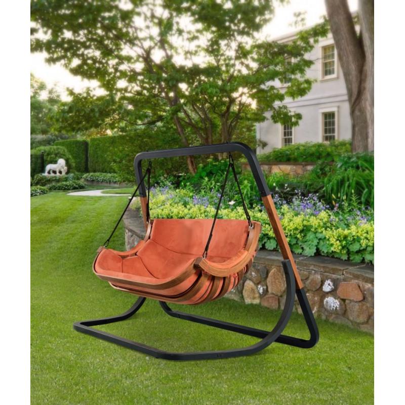 Podwójny Fotel Alpha Terracota - bujak ogrodowy