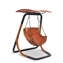 Fotel Alpha z daszkiem Terracota - bujak ogrodowy