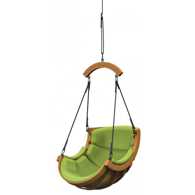 Podwieszany Fotel Alpha Łuk Zielony - bujak ogrodowy