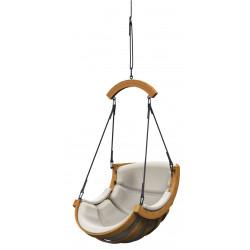 Podwieszany Fotel Alpha Luk Bezowy - bujak ogrodowy