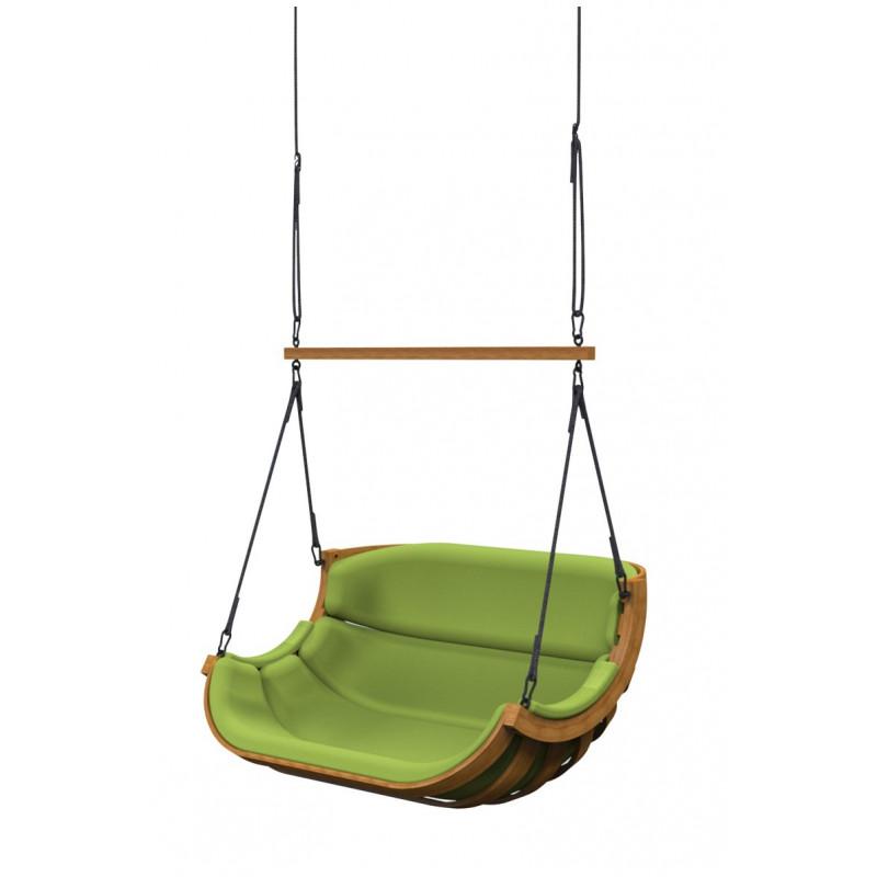 Podwojny Fotel Alpha Podwieszany Zielony - bujak ogrodowy