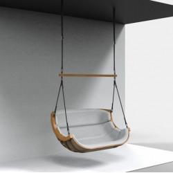 Podwójny Fotel Alpha Podwieszany Beżowy - bujak ogrodowy