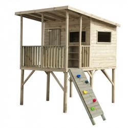 Drewniany domek ogrodowy dla dzieci - Robinson