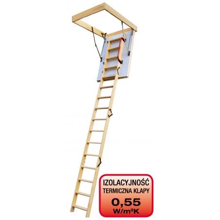 Drewniane schody strychowe EXTREME 100x60