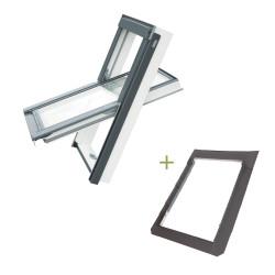 Okno dachowe EnergySolid + Kołnierz SFX (do pokryć płaskich)