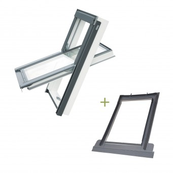 Okno dachowe EnergySolid + Kołnierz TFX (do pokryć falistych)