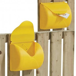 Skrzynka na listy żółta