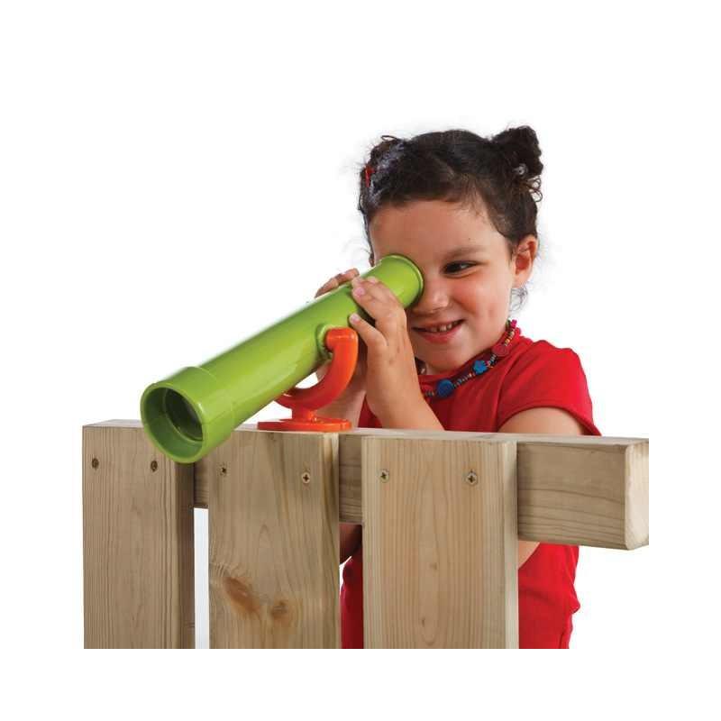 Teleskop na place zabaw - Zabawka edukacyjna - Czerwony