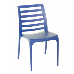Nowoczesne krzeslo RIGA - Wloski Design - Kolor Niebieski