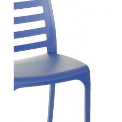 Nowoczesne krzesło RIGA - Włoski Design - Kolor Niebieski