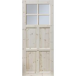 """Skrzydło przesuwne - """"Czapla"""" wersja 4S- Seria Classic - Drzwi wewnętrzne drewniane """"RADEX"""""""