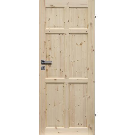 """Drzwi sosnowe, sęczne - """"Bergen"""" pełne - Seria Classic - Drzwi wewnętrzne drewniane """"RADEX"""""""