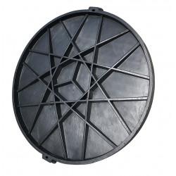 Pokrywa do szamba, z kluczem - czarny polimer