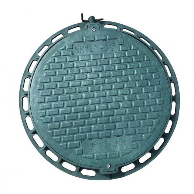 Pokrywa do szamba, z kluczem - zielony polimer