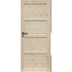 """Drzwi sosnowe, seczne - """"Lizbona"""" pelne - Seria Classic - Drzwi wewnetrzne drewniane """"RADEX"""""""