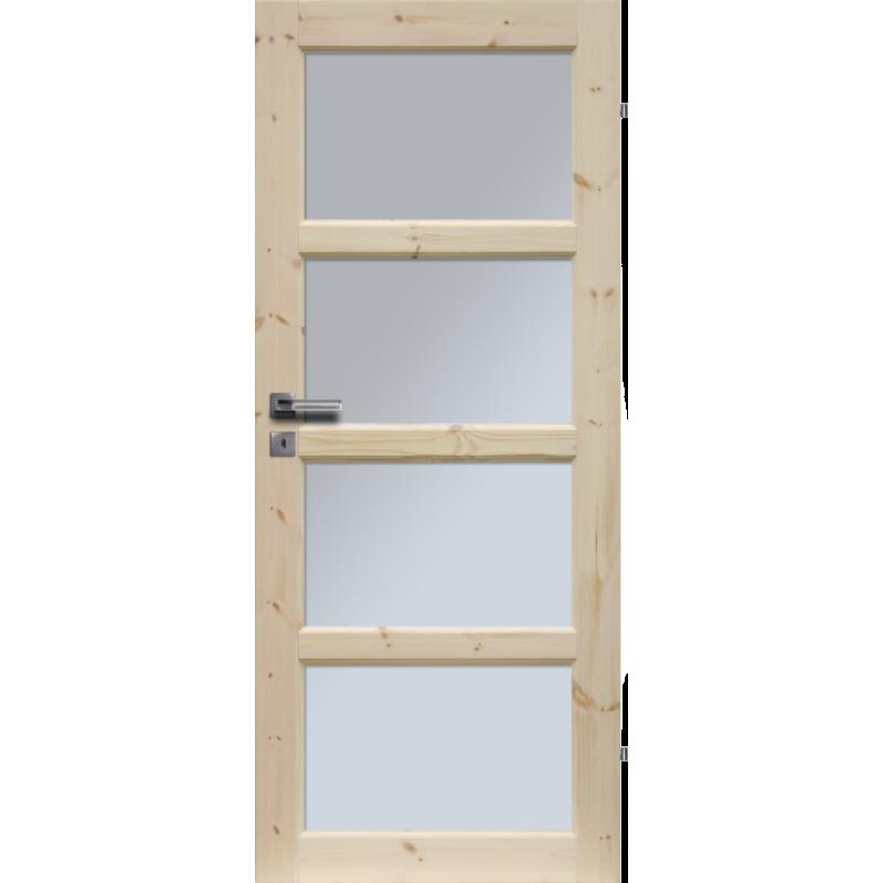 """Drzwi sosnowe, seczne - """"Lizbona"""" wersja 4S - Seria Classic - Drzwi wewnetrzne drewniane """"RADEX"""""""